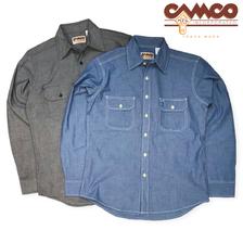 CAMCO MFG 長袖 シャンブレーシャツ ワークシャツ フラップポケット仕様画像