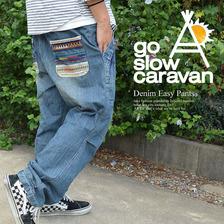 go slow caravan ライトオンスデニムイージーパンツ 390706画像