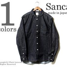 SANCA ペルーデニムミニラウンドカラーシャツ S13SSH13画像