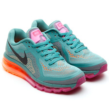 NIKE WMNS AIR MAX 2014 JADE GRAZE/BLACK-BRIGHT MAGENTA/ATOMIC ORANGE 621078-305画像