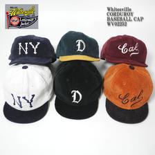 Whitesville CORDUROY BASEBALL CAP WV02252画像