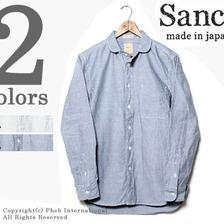 SANCA オックスフォードミニラウンドカラーシャツ S13SSH16画像