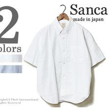 Sanca ビッグシルエットオックスフォード半袖ボタンダウンシャツ S15SSH16画像