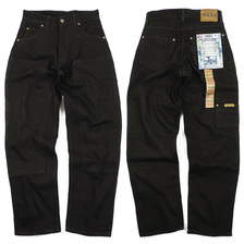 PRISON BLUES Men's Double Knee Work Jean Rinsed Black画像