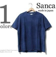 Sanca インディゴ 鹿の子ドルマンスリーブ ポケットTシャツ S16STS02画像
