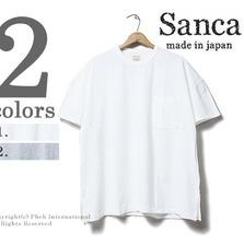 Sanca 鹿の子ドルマンスリーブポケットTシャツ S16STS01画像