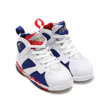 NIKE AIR JORDAN 7 RETRO BT WHITE/METALLIC GOLD COIN-DEEP ROYAL BLUE-INFRARED 23-LIGHT IRON ORE-DEEP ROYAL BLUE 304772-133画像
