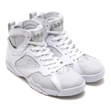 NIKE AIR JORDAN 7 RETRO WHITE/METALLIC SILVER-PURE PLATINUM 304775-120画像