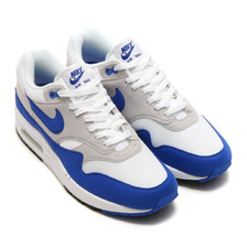 NIKE AIR MAX 1 ANNIVERSARY WHITE/GAME ROYAL-NEUTRAL GREY-BLACK 908375-102画像