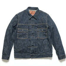 "ONI DENIM 17oz Green Cast ""鬼斑燃(Ki-Han-Nen)"" 2nd Type Denim Jacket ONI-02516P画像"