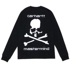 mastermind JAPAN × Carhartt WIP MMJ LONG SLEEVE T-SHIRT BLACK画像