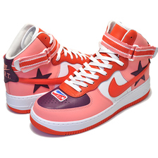 NIKE LAB AIR FORCE 1 HI / RT sunblush/bordeaux-team orange AQ3366-601画像