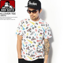 BEN DAVIS ALL OVER PRINT TEE -WHITE- C-8580031画像