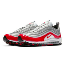 NIKE AIR MAX 97 PURE PLATINUM/UNIVERSITY RED-BLACK-WHITE 921826-009画像