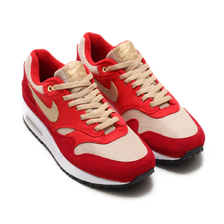 NIKE AIR MAX 1 PREMIUM RETRO TOUGH RED/MUSHROOM-RUSH RED-PALE VANILLA 908366-600画像
