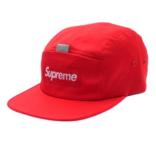 Supreme Reflective Tab Pocket Camp Cap RED画像