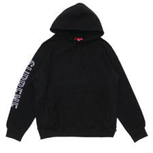 Supreme Sleeve Embroidery Hooded Sweatshirt BLACK画像