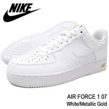NIKE AIR FORCE 1 07 White/Metallic Gold AA4083-102画像