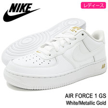 NIKE AIR FORCE 1 GS White/Metallic Gold 314192-178画像