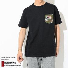 BEN DAVIS Camo Pocket S/S Tee C-8580051画像