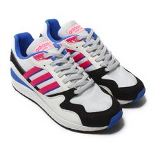 adidas Originals ULTRA TECH Crystal White/Shock Pink/Core Black AQ1190画像
