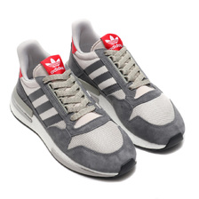 adidas Originals ZX 500 RM GREY/RUNNING WHITE/SCARLET B42204画像