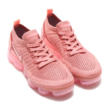 NIKE W AIR VAPORMAX FLYKNIT 2 RUST PINK/STORM PINK-PINK TINT 942843-600画像