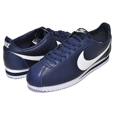NIKE CLASSIC CORTEZ LEATHER midnight navy/white 749571-414画像