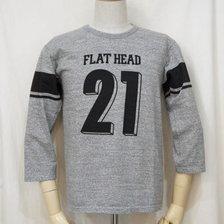 THE FLAT HEAD FOOT BALL THREE-QUARTER SLEEVES T-SHIRT TKTF SERIES F-TKTF-001画像