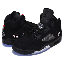 NIKE AIR JORDAN 5 RETRO BCFC black/challenge red-white AV9175-001画像