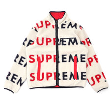 Supreme 18FW Reversible Logo Fleece Jacket画像