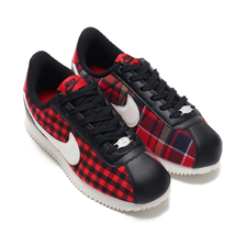 NIKE CORTEZ BASIC TXT SE (GS) BLACK/SUMMIT WHITE-GYM RED AA3498-003画像