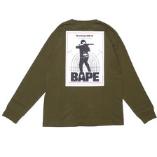 A BATHING APE 18AW HUNTING L/S TEE OLIVE DRAB画像