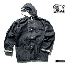 TENDER Co. TYPE 936 Hooded Shepherd's Coat 19oz Cross Weave Denim Rinsed Wash画像