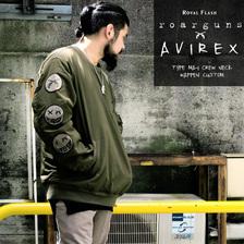 AVIREX × roar × ROYAL FLASH TYPE MA-1 CREW NECK WAPPEN CUSTOM 696718302画像