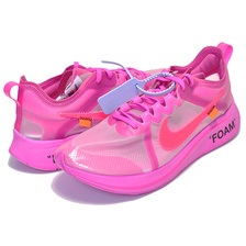 THE 10 : NIKE ZOOM FLY OFF-WHITE tulip pink/racer pink AJ4588-600画像