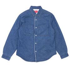 Supreme 18FW Sherpa Lined Denim Shirt BLUE画像