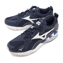 MIZUNO WAVE RIDER 1 NAVY/LIGHT GREY/WHITE D1GA1927-13画像