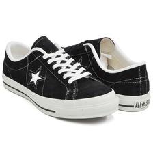 CONVERSE ONE STAR J SUEDE BLACK 32356911画像