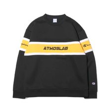 Champion × ATMOS LAB WRAP AIR CREW NECK BLACK C8-P010-090画像