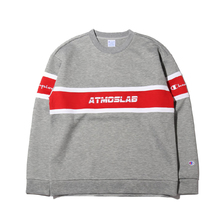 Champion × ATMOS LAB WRAP AIR CREW NECK OXFORD GREY C8-P010-070画像