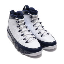 NIKE AIR JORDAN 9 RETRO WHITE/UNIVERSITY BLUE-MIDNIGHT NAVY 302370-145画像