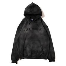 APPLEBUM Bleach Sweat Parka BLACK画像