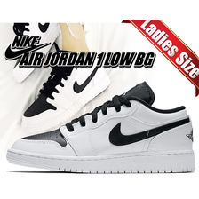 NIKE AIR JORDAN 1 LOW BG white/black 553560-103画像
