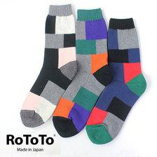 RoToTo パッチワークソックス R1215画像