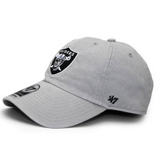 '47 Brand OAKLAND RAIDERS CLEAN UP STRAPBACK STEEL GREY F-MVP23WBV-BKA画像
