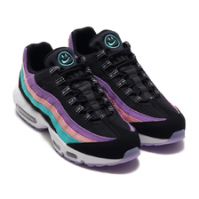 NIKE AIR MAX 95 ND BLACK/WHITE-HYPER JADE-BLEACHED CORAL BQ9131-001画像