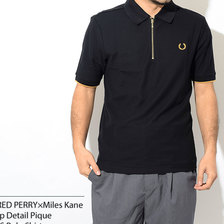 FRED PERRY × Miles Kane Zip Detail Pique S/S Polo Shirt SM5153画像