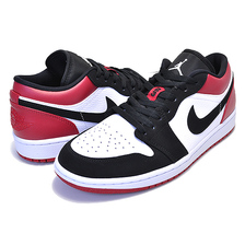 NIKE AIR JORDAN 1 LOW BLACK TOE white/black-gym red 553558-116画像