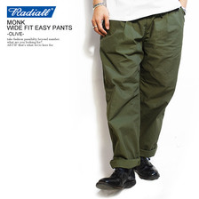 RADIALL MONK WIDE FIT EASY PANTS -OLIVE-画像